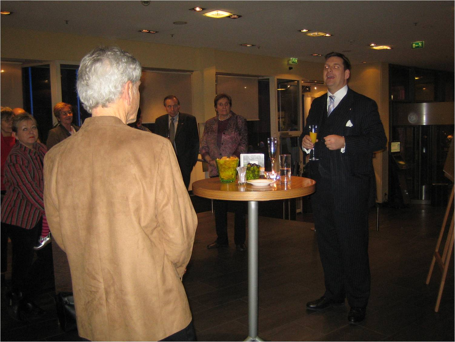 Mr Jorg Potreek , Cluster General Manager, Opening The Exhibition  - Hilton Cologne, 2008